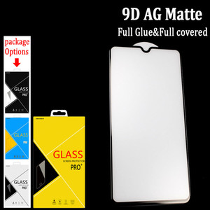 شاشة 9D كاملة الغراء AG ماتي الزجاج المقسى حامي للحصول على SAMSUNG A10S / A50S / A90 5G / NOTE10lite / A71 / A51 / A90 / A80 مكافحة وهج الزجاج في علبة كرتون