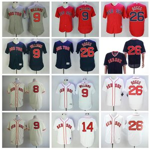 Boston baseball jersey Red Sox 9 Ted Williams Jersey Pullover Retire Baseball 14 Jim Rice 26 Wade Boggs 8 Carl Yastrzemski All Stitched 07