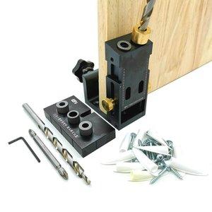 Trou Pocket Jig Kit Locator Avec Gripper de Drill Bit Oblique goujonner Jig perforatrice Pour Angle Drill Guide Outils Travail du bois de la #
