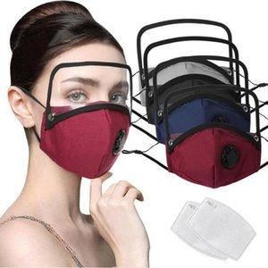 maschera di cotone creatività con visiera per bambini adulti rimovibile visiera antipolvere faccia fascino maschera con filtro 2 in magazzino DHA501