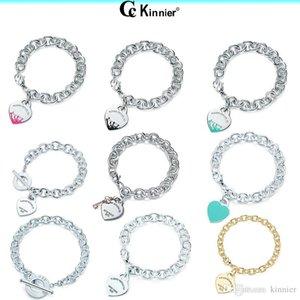 Original Woman luxury jewelry Real 925 Sterling Silver Love Heart Pendant Bracelet with Original Box Wedding Gift Chain Bracelet