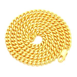Cuban Link Chain 925 Sterling Silver Hip Hop Men's Chain Link Necklace 5mm Width Two Size Available