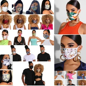 Маска для лица Цветочные печати Мода маски мужчины и женщины Дизайнерские маска моющийся пыле езда Велоспорт Спорт Защитные маски 24 Стиль HH9-3173