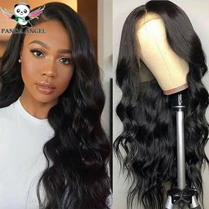 13 * 4 кружева передние человеческие парики для волос PREUCKED 150% 13 * 6 бразильский реми рули волна тела человеческие волосы шнурки передних париков для черных женщин панды