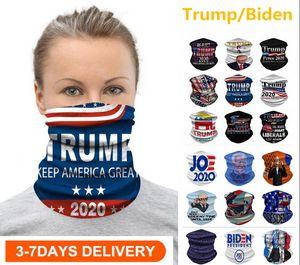 US STOCK Radfahren Masken Schal Unisex Bandana Motorrad Schals Kopftuch Halsgesichtsmaske Außen Trump / Biden Keep America Große 2020 Wahl