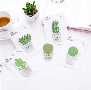 Sevimli Cactus Memo Pad Yapışkan Not Sticker Memo Kitap Not kağıdı N Çıkartma Kırtasiye Ofis Aksesuarları Okul GD470 Malzemeleri
