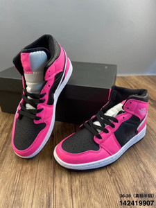 2020 Nova Alta 1 Mid GS Pinksicle esporte Calçados casuais Banido NRG Rebel XX União 1s Unc preto sapatos cor de rosa