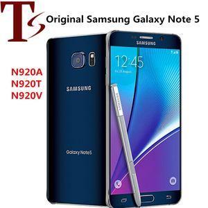Yenilenmiş Orijinal Samsung Galaxy Note 5 N9200 N920A N920V N920T 5.7 inç Octa Çekirdek 4GB RAM 32GB ROM 4G LTE KİLİDİ Telefon