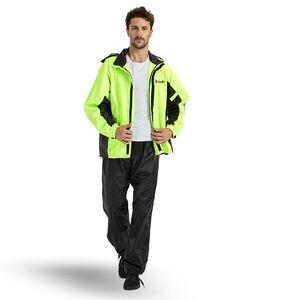 Waterproof Adult Rain Coat Men Rain Pants Suit Male Jacket Thickened Double Outdoor Hiking Electric Motorcycle Raincoat Gift