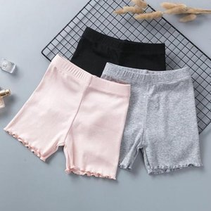 Pantalones chica Seguridad algodón sólido niñas pequeñas cortocircuitos delgada elástico de los calzoncillos muchacha de los niños de las bragas del bebé ropa del verano de 4 colores DW5708