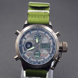 Роскошные часы Мужские часы AMST Мужчины водонепроницаемый дайвер часы наручные часы кварцевые наручные часы Relogio Мужчина для