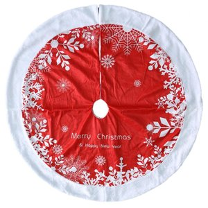 Christmas Tree Skirts Floor Mat Personality Exquisite Wear-resistant Plush Edge Cover New Year Xmas Party Home Decoration Carpet
