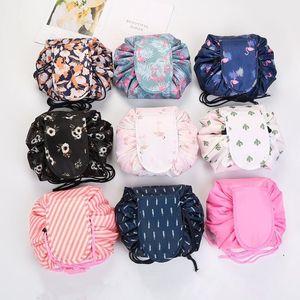 Сумки для хранения Ленивого косметичку Больших Cosmetic Bag Flamingo Водонепроницаемые путешествий Washbag Портативная кулиска Туалетный Организаторы Сумка DHC374