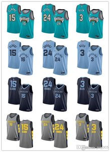 Hombres Mujeres JóvenesMemphisGrizzlies15 Brandon Clarke24Dillon Brooks 3 Graysoncostumbre Allen verde baloncesto jerseys