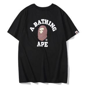 coton style mode respirant impression Ape Head hommes T-shirt décontracté été lâche un bain singes t-shirt