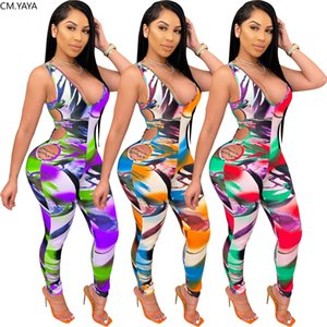 Women Playsuit Sexy Cut Out V-neck Sleeveless Tank Bodysuit Bodycon Jumpsuit Sexy Club Party Romper Playsuit One Piece Overalls