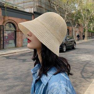 Korean chic hohle dünne gestrickten Fischer weich Mädchen Fischer Sonne Sonne lässig Allgleiches künstlerisches Becken Hut Sonnenschirm Hut