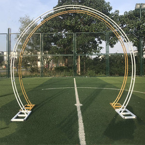 Wedding arch party backdrop iron arch stand props double round ring iron arch frame decorative flower door decoration