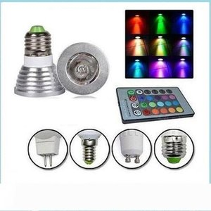 For Christmas Party KTV Lighting RGB 3W Led Spot Lights E27 MR16 GU10 Led Lights Bulbs Memory Colorful Change AC 85-265 + 24keys Controller