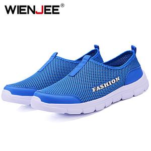 WIENJEE Erkekler Aqua Hafif Wading Su Kamp Sneakers Hızlı kurutma Açık Nefes Plaj Shoes