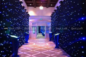 led star curtain 3mx12m wedding backdrop stage background cloth with multi controller dmx function Free shipping