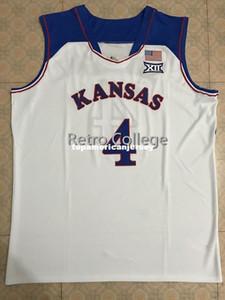 # 4 Devonte Graham Канзас Джайховкс KU Top College Basketball Джерси Вышивка Швы Настройка любого размера и имя XS-6XL Vest трикотажных изделий NCAA