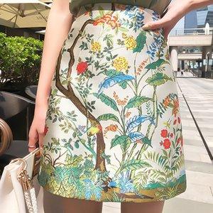 2020 새로운 패션 모든 경기를 인쇄 OL 통근 스커트 자수 엉덩이 A- 라인 드레스 앞치마 수 놓은 앞치마 스커트 A- 라인 드레스 9610