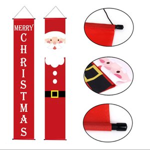DHL FEDEX Hotsale Cheapest 30*180cm Couplet Merry Christmas Banners flags 300D Polyester Outdoor indoor party decorations custom wholesale