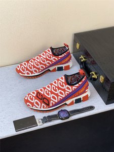 Designer D.G Sorrento Knitted Trainers Leather Shoes Sneakers With Original Box