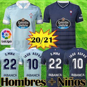 2020 2021 RC سيلتا فيغو كرة القدم جيرسي LOBOTKA ياغو أسباس SANTL MINA الاطفال كرة القدم قميص SISTO BOUFAL camiseta فوتبول الأعلى كيت الجودة