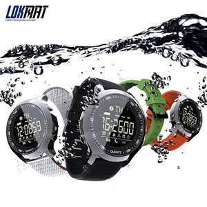 Lokmat inteligente reloj del deporte del podómetros impermeables mensaje recordatorio de natación al aire libre Bluetooth hombres SmartWatch para iOS teléfono inteligente Android desgaste