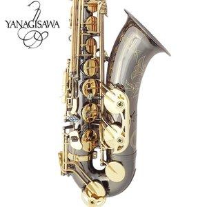 ياناجيساوا الجديد تينور ساكسفون عالية الجودة ساكس B شقة التينور ساكسفون اللعب مهنيا الفقرة الموسيقى الأسود الساكسفون الاب