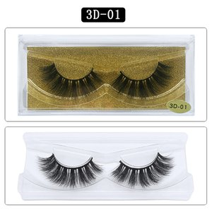 Mink Hair lashes Big 3D 25 Styles 100 Real Mink Eyelashes Beautifying tools 25mm 3D lashes Natural Simulation False Eyelashes Eyelash box
