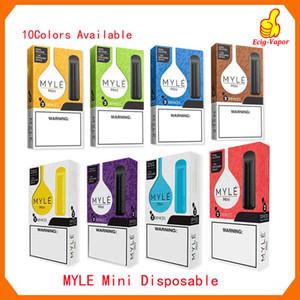 Neueste Myle mini Einweg Vape Pen 280mAh Akku 1,2 ml Pods Patronen Pre-Filled e CIGS Gerät Vs Puff Bars Plus-Flow-Bang XXl