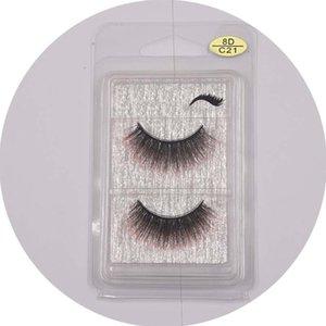 False Eyelashes Wholesale8D Stereo Lashes A Pair of Popular Imitation Mane Multi-style Silk Eyelashes Eyelash Extension Makeup