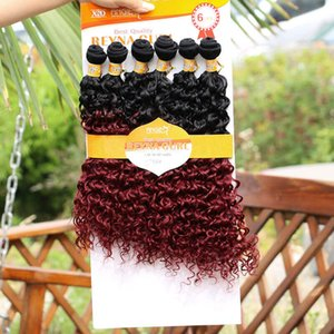 sew in hair extensions box braids crochet box braids crochet braids hair 6 PCs ombre Synthetic hair wefts Jerry curl xpression FOR WOMEN