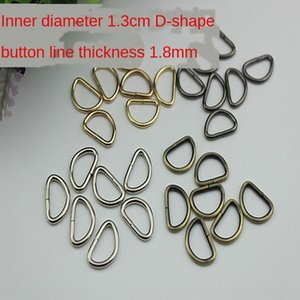 Metal light gold zipper head d-buckle clothes luggage hardware accessories clothing shoes hardware accessories inner diameter 1.3cm