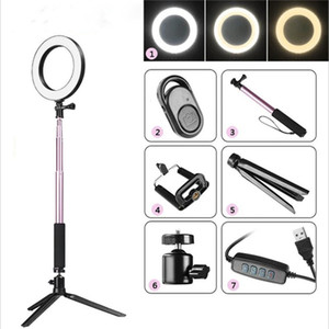 5in1 16 centimetri anello LED luce di riempimento Video Foto Loop Light Studio Camera per Youtube trucco selfie con 1,3 treppiede Phone Holder clip