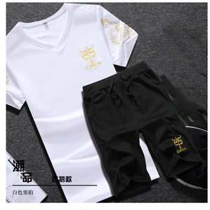 Women Tracksuit T Shirts + Shorts Summer Tracksuits Joggers Tshirts Suits Breathable Tees Letters 9