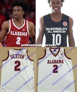 Дешевые Пользовательские #collin Sexton трикотажные изделия NCAA Оклахома Sooners баскетбольного Джерси Макдональдс AMERICAN Mens Белый Бордовый Черный прошитой