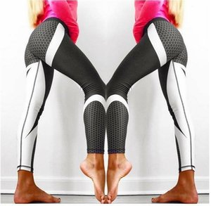 Hot Mesh Pattern Print Leggings Fitness For Women Sporting Workout Leggins Elastic Slim Black White Pants Push Up Dropshipping