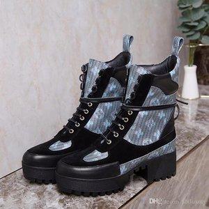 Women Boots Fashion Autumn Winter Shoes Ankle Boots Ladies Lace -Up Warm Laureate Platform Desert Boot Bottes Femmes Womens Shoes Casual L77
