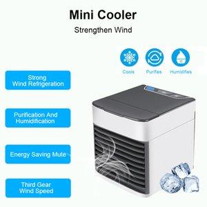 Humidificador 2020 portátil USB Acondicionador de aire acondicionado de escritorio conveniente del USB del refrigerador de aire del ventilador digital Mini refrigeración por aire