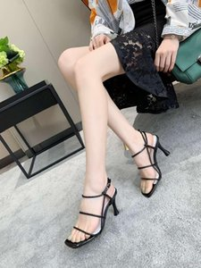 Summer 2019 new ribbon roman sandals 100 lap casual ribbon hollow ribbon fashion sandals high heels