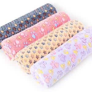 Фланель Печать Волосатые Pet Мат Winter Keep Warm Star Cat Dog Puppy Мягкая Одеяло Кровать Подушка Hot 19tt Продажа UU