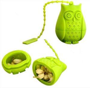 Tee-Silicon Owl lose Teebeutel Eule geformte Teeblatt Infuser Food Grade Infusers Netter StrainerTeaspoon Filter Teaware Werkzeuge DHC147