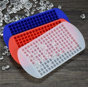 Moisissures Ice Cube 160 Moisissures Grids Petit bricolage silicone glace Plateau carré Gel Grids Ice Cube Maker Food Grade Bar Accessoires de cuisine LSK293