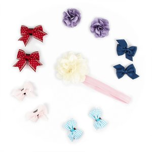 Ami&Li Baby Girl's Hair Clips Cute Hair Bows Baby Elastic Ties Accessories Ponytail Holder Hairpins Set For Baby Girls Teens Toddlers
