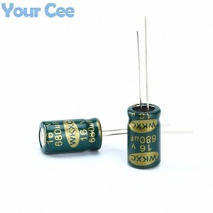 Wholesale-20 pcs Electrolytic Capacitors High Frequency 16V 680UF Aluminum Electrolytic Capacitor JG0Z#
