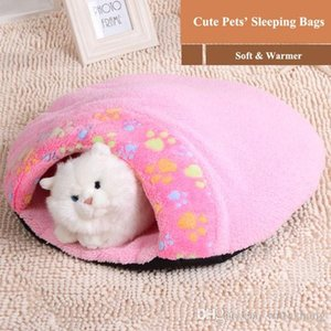 Hot Sale 1pc Pet Products Warm Soft Cat House Pet Sleeping Bag Lovely Hamburger Dog Kennel Pet Bed Size S M